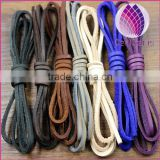 wholesale 3mm wide flat real leather cord for pet collar chain bracelet necklace flat leather string