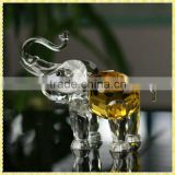 Handcrafted Yellow Edge Crystal Elephant For Wedding Souvenirs