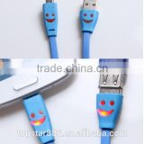Micro USB Data Sync Phone Charger Cable Smile Face Flash LED Light up US New e40