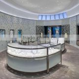 luxury jewellery showcase/Jewellery glass counter/jewelry findings glass display cabinet