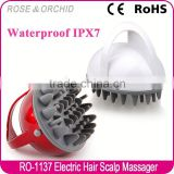 Mini waterproof acupressure vibrator massage machine for scalp cleansing