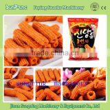 2015 hot sale delicious fried snack food machine processing plant macaroni pasta fried solution