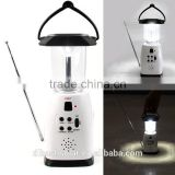 FM Radio solar power and emergency crank solar lantern