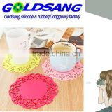 colorful silicone cup mat/household product