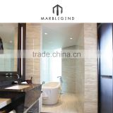 Interior Wall Cladding Vietnam White Wood Grain Marble Tile