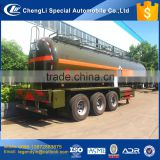 CLW chemical liquid tranpsort tank semi trailer for acid liquid delivery 28000 liter 30000 liter 30 cbm tank volume capacity