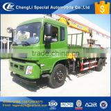 CLW widely use Dongfeng 6 wheel 5 tons load truck with 5 tons crane famous brand good quality