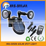 Multi-function 360 degree rotating solar led spot light