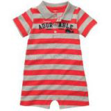 Striped Polo Baby Romper