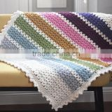 DIY craft kits afghan blanket sets easy chunky crochet v-stitch knitted craft kit