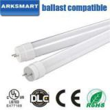 UL DLC All Glass T8 Led Tube 110lm/w Plug And Play