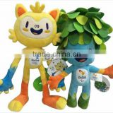 2016 Year The Rio Olympics Mascot Doll,Vinicius and Tom Plush toys,stuffed plush toy for kids