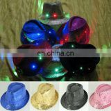 LPH-0071A Flashing light up fedora hat Flashing LED party hat