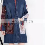 2017 beautiful women jackets denim jeans patterns designs fashion ladies winter long coats