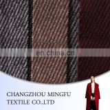 Ready cargo soft handfeeling 50% Wool 50% Polyester woolen woven wool fabric, twill woollen fabric for winter coats