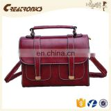 CR english amazon hot selling new fashion pu leather crossbody bags red retro messenger bag women