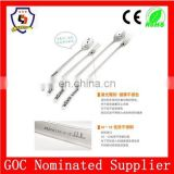 cute smile stainless steel long spoon and fork for stiring