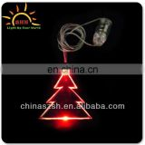 Christmas tree shape flashing plastic LED light up necklace