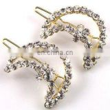 2013 newest fashion alloy moon star rhinestone hair clip
