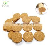 self-adhesive furniture protector selg- glue dots cork protector pad sticky round furniture cork protective pad