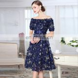 LAITE D2145 high quality women sequin embroidery one-shoulder casual dress evening birthday dress for women