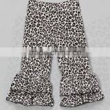 wholesale children White Snow Leopard Ruffle Pants