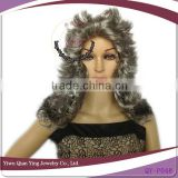 grey color cheap wholesale Jewish party wigs kosher wigs