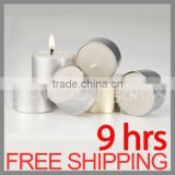 WEDDING PARTY TEALIGHTS TEA LIGHT WHITE CANDLES HOME DECOR 9 HOURS BURNING TIME