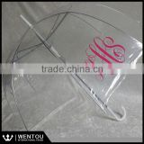Hot Sell Clear Monogrammed Umbrella