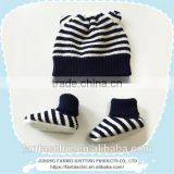 Winter Baby wool felt hat cute animal ears striped kintted boots