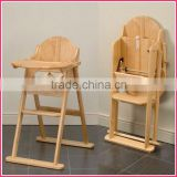 Eco-Friendly Folding Wooden Baby High Chair