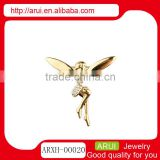 Jewelry from Italy gold diamond fairy angel brooches China wholesale