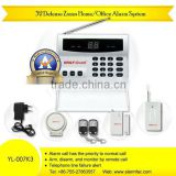 32 zones house/commercial intruder phone alarm system YL--007K3