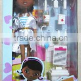 Wholesale doc mcstuffins doll doctor toy set for girl gift/original box package