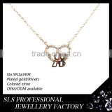 Women favorible necklace (14k/18k/22k)rose gold plating chain necklace,fashion necklace wholesale in Gungzhou