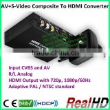 Composite S-Video to HDMI Converter