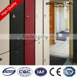 China glossy white three door dampproof phenolic resin hpl custom made locker with cam lock