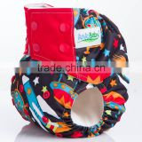 China Wholesale Reusable Baby Washable Printed cloth diaper nappys For Girls