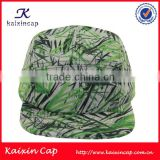 blank polyester flat bill 5 panel hats high quality nylon closure digital printing 5 panel camp cap hats