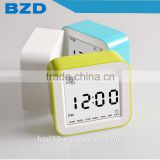 New Design Promotional Smart Digital Rotation Control Functions Auto ISO Night Light Bedside Voice Control LCD Clock