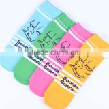2015 hot selling Boonie Bears colorful animal pattern tube socks for girls and boys
