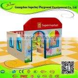 Indoor Soft Supermarket Themed Plastic Houses For Kids 1411-28b