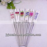 Stainless steel Korean Ceramic chopsticks with mirror polishing or hand polishing and low price