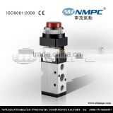 New style push button 5 port 2 way mechanical valve