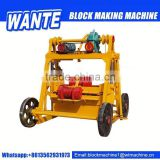 QT40-3b low price concrete block machine,manual electric block making machine eco brick machine