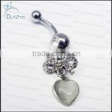 anime belly button ring cat eye stone beautiful navel piercing