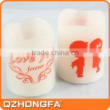2016 new design hot selling soft rubber white candle jars
