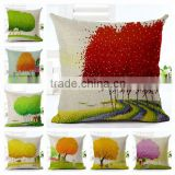 Online Sale Cotton Blend Linen Square Decorative Throw Pillow Covers - Indoors or Outdoors Cushion Cases