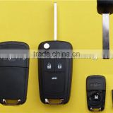 flip folding key shell for Chevy remote key case cover 3 buttons Chevrolet Cruze HU100 blade