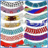 Clay Pave Crystal Rhinestone Bracelet Connectors Wholesale Charms Long Tube Beads Bar Jewelry Findings CTB-051